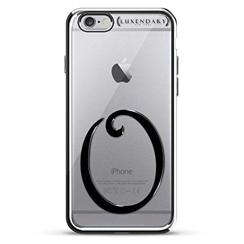 Luxendary Texas Home Schutzhülle für iPhone 6/6S Plus, Schwarz/Transparent, Black Initial O2, iPhone 6 Plus 5.5 Inch, Silber
