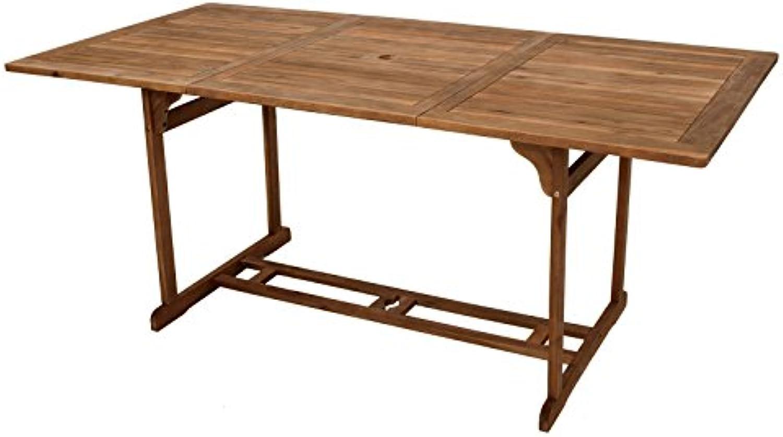 Gartentisch Akazie 90x180cm Holztisch Tisch Esstisch Gartenmbel Balkon Terrasse