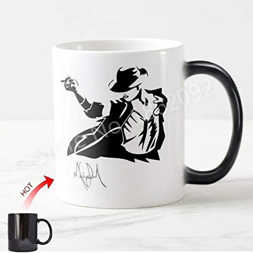 tywgb Neuheit Michael Jackson Tanzen Zeichnung Magic Mug Cup Lustig Cool Michael Jackson Kaffeetassen Teetassen Autographie Geburtstagsgeschenke-Mj