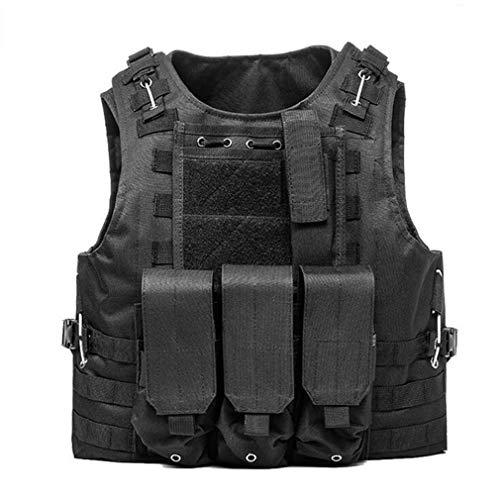 hanyaqi Gilet tactique pour airsoft militaire Molle Combat Assault Board Vest CS Outdoor Vêtements de chasse Gilet