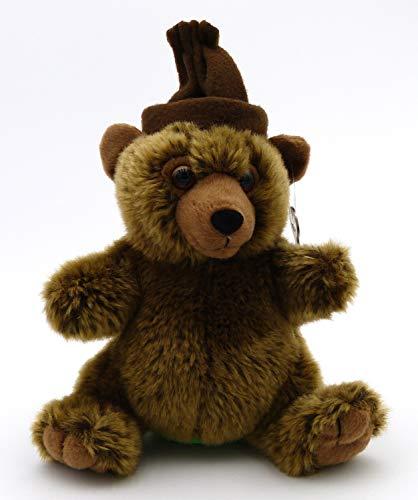Süßer Plüsch Bär mit Mütze - Spardose - ca. 22 cm - Sparschwein - mit Schlüssel - braun