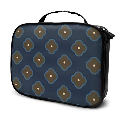 Dutch Beautiful Daisy Flower Travel Cosmetic Bag Kids Cosmetic Bag Women A Makeup Bag Multifunction Printed Pouch for Women
