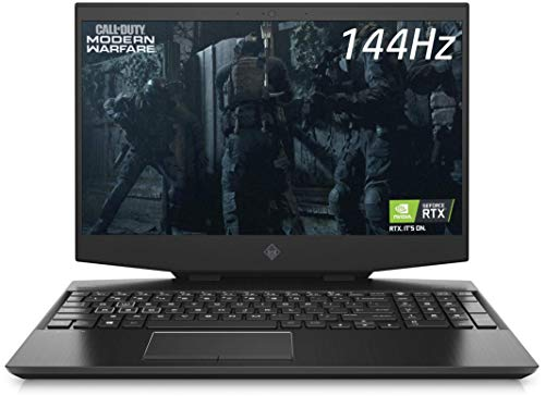 HP OMEN 15-dh1018na 15.6' FullHD 144Hz Gaming Laptop – Core i7 10750H, 32GB DDR4, 1TB NVMe SSD, Nvidia GeForce RTX 2070 Max Q 8GB, WIFI 6 & Bluetooth 5, Windows 10 Pro – UK Keyboard Layout (Renewed)