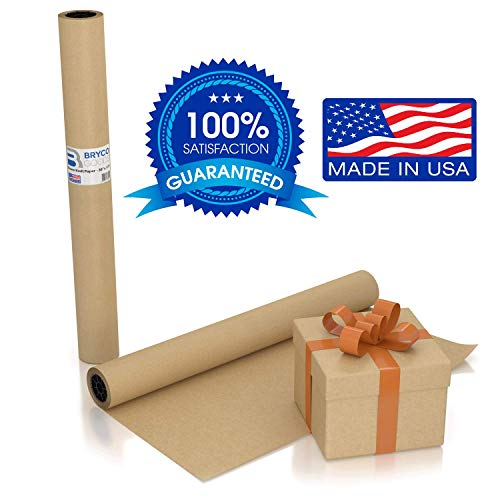 Large Brown Kraft Paper Roll - 36' x 1200' (100 ft) - Made in USA - Ideal for Gift Wrapping, Packing, Moving, Postal, Shipping, Parcel, Wall Art, Crafts, Bulletin Boards, Floor Cover or Table Runner