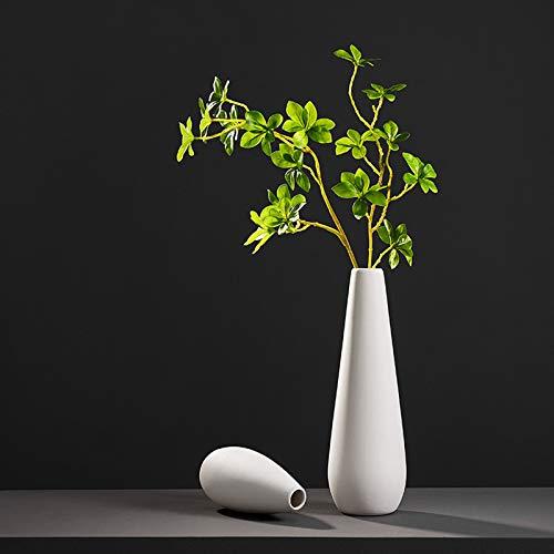 THDFV Jarrones de cerámica de Flores Artificiales, jarrón de Estilo Zen Estilo japonés, jarrón de Mesa Simple para Flores secas/Flores Frescas, florero de decoración del Large