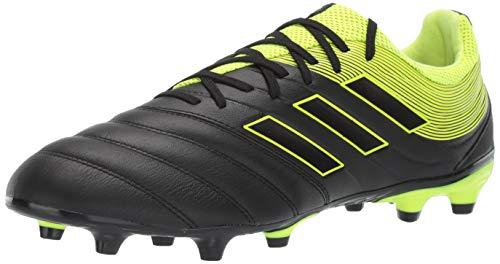 adidas Men's Copa 19.3 Firm Ground, Black/Solar Yellow/Black, 10.5 M US