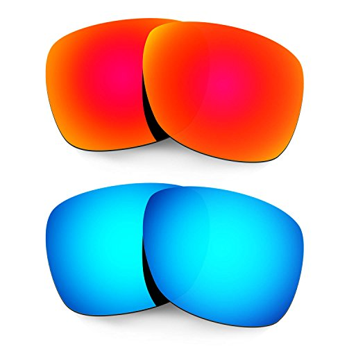 HKUCO Plus Mens Replacement Lenses For Oakley Catalyst Sunglasses Red/Blue Polarized