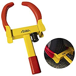 Andes heavy duty car wheel clamp - A great anti-theft device Quick and easy to attach 2 keys included Universal – Will fit all different types of car, van, caravan and motorcycle Clamp width: 18cm – 29cm. Clamp base to claw tip: 19cm. Handle length: ...