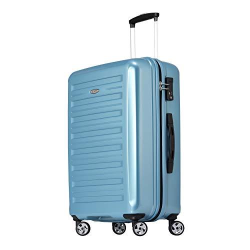 Eminent Handbagage Voyager IX (2e generatie) 67 cm 70L Lichtgewicht Polycarbonaat harde schaal 4 Stille dubbele wielen TSA-slot Turkoois