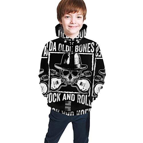 Teen Hoodie Boys and Girls Pullover Sweatshirt Black Animated One Piece-Monkey D S