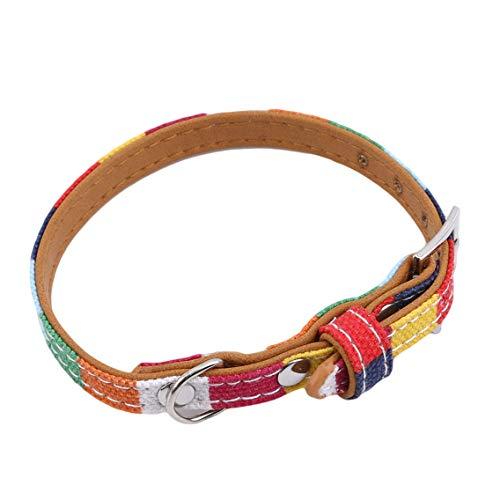 Aiasiry Hundehalsband Bunte verstellbare Haustierhalsbänder für Hunde Kleiner mittlerer Welpe, Größe M.