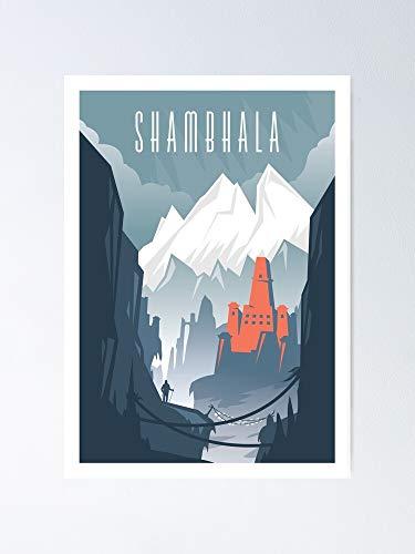 AZSTEEL Póster de Ciudades Perdidas de Shambhala