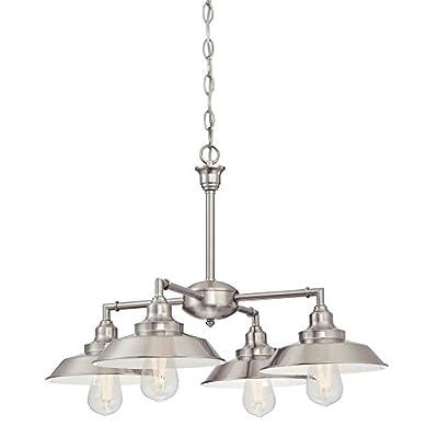 Westinghouse Lighting 6354500 Chandelier, 4-Light, Brushed Nickel