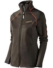 Härkila Chaqueta de forro polar para mujer Thyra marrón, transpirable, de Polartec® Power Stretch®