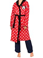Womens Minnie Mouse Dressing Gown Bring some Disney cheer to the gloomiest of winter evenings with this wonderful Minnie bath robe! Features a classic Minnie polka dot with comfy tie belt fastening The lovely soft fleecy material will ensure a luxuri...