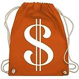 Shirtracer Karneval & Fasching - Dollar Kostüm weiß - Unisize - Orange - augenbinden set - WM110 - Turnbeutel und Stoffbeutel aus Baumwolle
