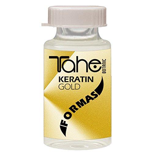Tahe Botanic Kératine Gold Formes Traitement Capillaire 10 Ampoules 10 Unités