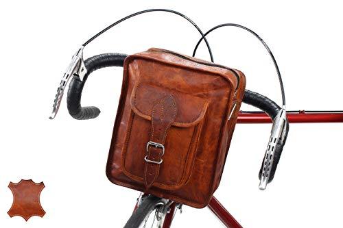 Gusti Lenkertasche Gepäckträgertasche - Dietrich T. Umhängetasche Fahrradtasche Ledertasche Vintage Braun Leder