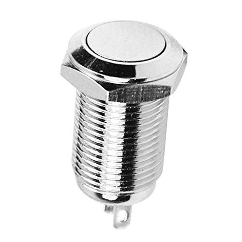 yotijar Interruptor de Encendido/Apagado en Acero Inoxidable con Botón de