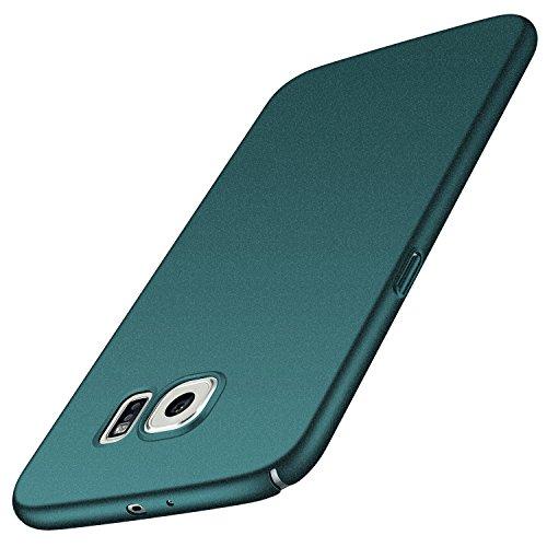 anccer Samsung Galaxy S6 Hülle, [Serie Matte] Elastische Schockabsorption und Ultra Thin Design für Samsung Galaxy S6 (Kies Grün)