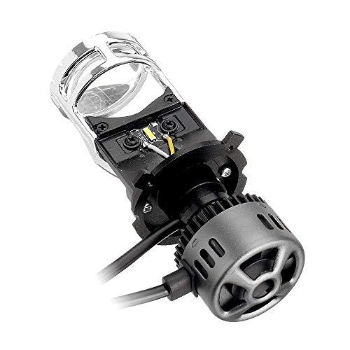 Zimaes Duradero H4 LED Faros con Lente de proyector Miniskirt HI/LoV Bulb Bulb 60W 9600LM 6500K Blanco para Motocicleta de automóviles Fuerte