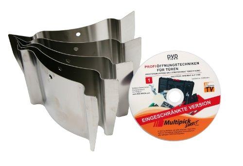 Türöffnungswerkzeug Türfallengleiter Set 5-tlg - Multipick-Original inkl. Profi-Anleitung auf DVD
