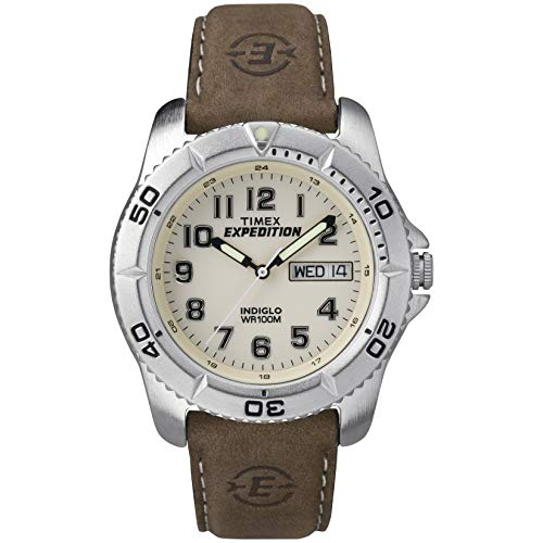 Timex Men's T46681 Expedition Traditional Brown Leather...