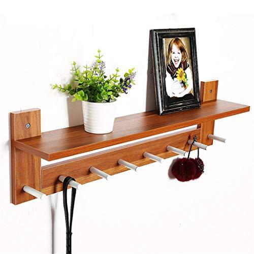 Kapstok van massief hout kleur hout 70 cm voor woonkamer slaapkamer (kleur: B)