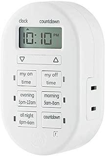 myTouchSmart 26892 Indoor Digital Timer, 1-Outlet Polarized, Preset and Customized Program Options, White, 1-Pack