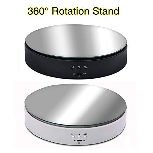 MYAMIA 10 Kg Tragende Fotografie Fotostudio Geschwindigkeitsverstellbarer Drehbarer Schmuckständer 360-Grad-Plattenspieler Für Elektrische Produkte-Schwarz