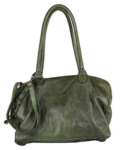 BZNA Bag Vanja verde Grün Italy Designer Messenger Damen Ledertasche Handtasche Schultertasche Tasche Leder Shopper Neu