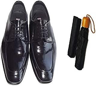 Eray Kundura Klasik Siyah Düz Erkek Ayakkabısı + Şemsiye