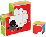 Hape Farm Animals Toddler Wooden Stacking Block Puzzle