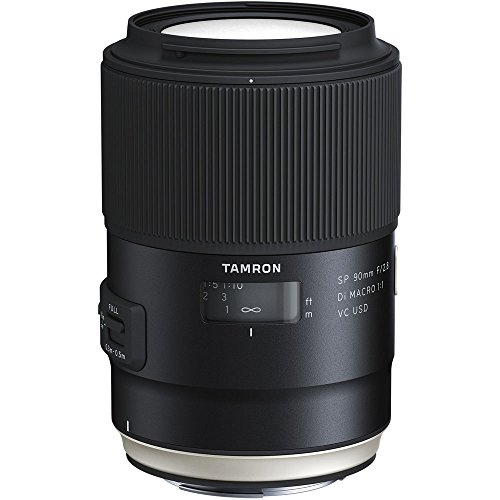 Tamron SP 90mm F/2.8 Di VC USD 1:1 Macro Lens for Nikon Cameras (Tamron 6 Year...