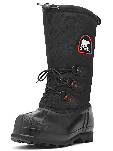 Sorel Men's Glacier Extreme Snow Boot,Black/Red Quartz,7 M US