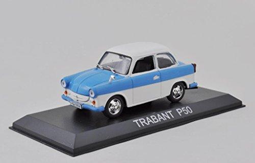 DieCast Metall Modellauto 1:43 DDR Trabant P50 500 blau weiss