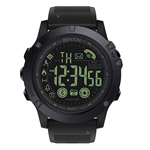 BENION Waterproof Smart Watch Sport Android Bluetooth Military Fitness Army iOS (BI5012BBA)