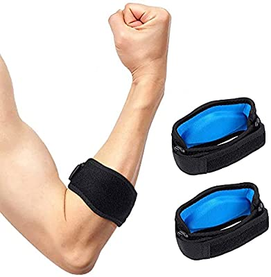Tennis Elbow Support Strap, Golfers Elbow Brace with Compression Pad for Men & Women; Counterforce Tendonitis Elbow Strap Pain Relief Tendonitis Arm Band For Men Women by Uswellcare