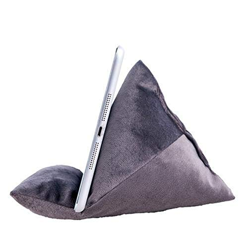 Nicole Knupfer Tablet Stand/Bean Bag Cushion Holder for All Devices/Any Angle on Any Surface (Grey)