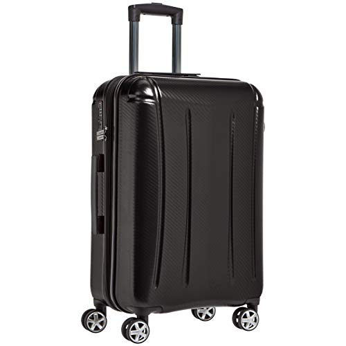 Amazon Basics - Maleta rígida «hardside» Oxford, con ruedas - 68 cm, Negro