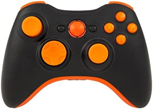 Matte Black/Orange LED Xbox 360 Modded Controller (Rapid Fire) COD Black Ops 2, MW2, MW3, MOD GAMEPAD