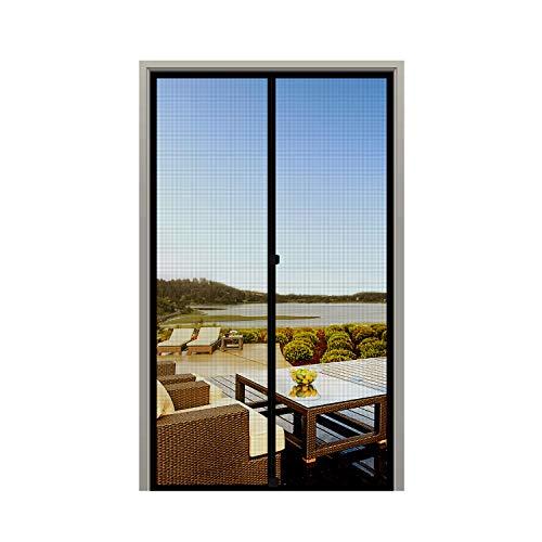 """MAGZO Screen Door Magnets 36 x 82, Durable Fiberglass Door Mesh with Full Frame Hook&Loop for Back Door Fits Door Size up to 36""""x82"""" Max-Black"""