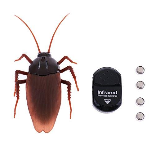 P Prettyia Grante Juguete Cucaracha de Simulación Cucaracha de Teledirigido Control Insectos Juquete