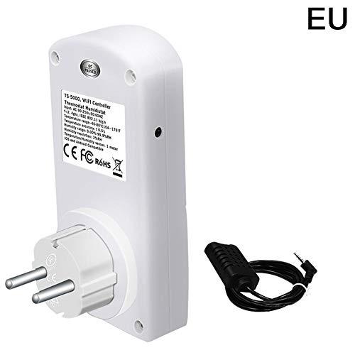 Life Canciones de WiFi Smart Plug Socket con Temperatura Humedad Controlador–Intelligent Temporizador Outlet Switch Haushaltsgeräte Mando a Distancia a través de aplicación para iOS/Android