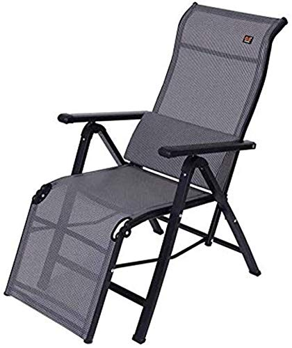MGE Deck chair,Patio Reclining Chairs, Gray Folding Recliner Chair Sun Lounger Zero Gravity Lunch Break Office Deck Chairs with Lumbar Pillow