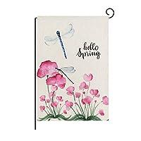 春の花の写真ガーデンの旗、花柄のバナーの旗新ホームフェスティバルデコレーションアクセサリー30x45cm (色 : GFPT000210)