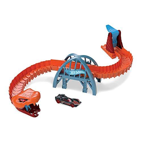 Hot Wheels- Creature Mostruose Playset Vipera, Giocattolo per Bambini 3+ Anni, GJK88