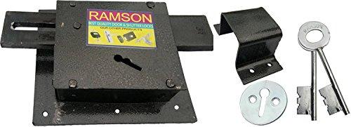 RAMSON Iron Santry 3 Chal Standard Size Door Lock with 2 Keys (Black)