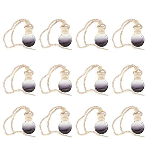 styleinside 12 botellas de perfume vacías para coche, colgante de calabaza, decoración del hogar