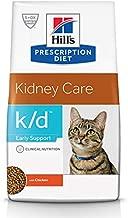 Hill's Prescription Diet k/d Early Support Kidney Care Chicken Flavor Dry Cat Food, Veterinary Diet, 4 lb bag